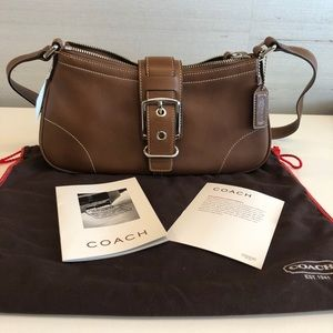 Coach brown leather never been used still has tag